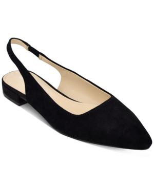 Marc Fisher Fina Snip-toe Flats Women's Shoes In Black