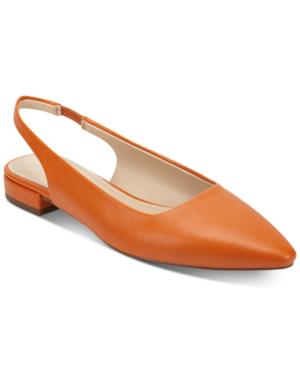 Marc Fisher Fina Snip-toe Flats Women's Shoes In Spring Orange