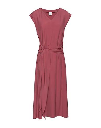 8 By Yoox Midi Dress In Brick Red