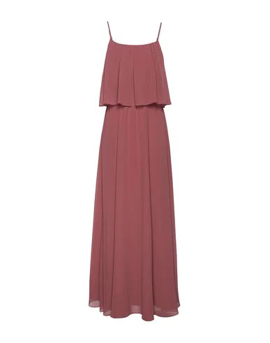 8 By Yoox Long Dress In Brick Red