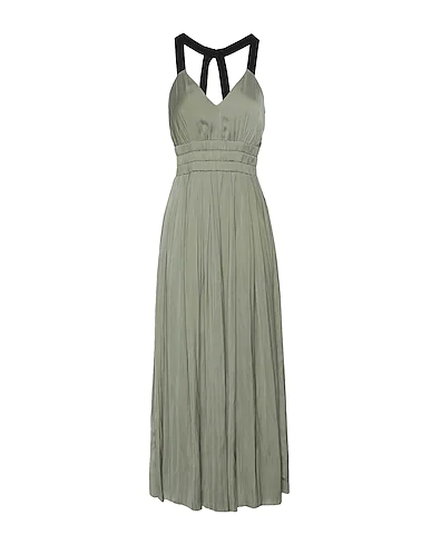8 By Yoox Long Dress In Military Green