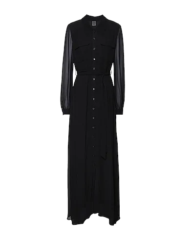 8 By Yoox Long Dress In Black