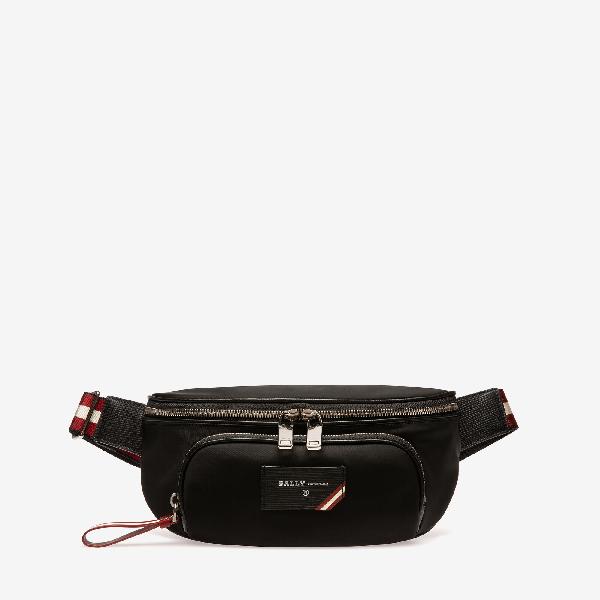 Bally Explore Finlei Nylon Belt Bag In Black