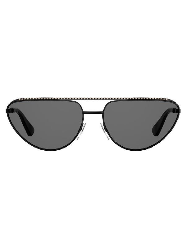 Moschino Eyewear Moschinio Eyewear Cat Eye Sunglasses In Black