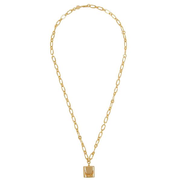 Daisy London X Estée Lalonde Luna Lock 18kt Gold-plated Necklace
