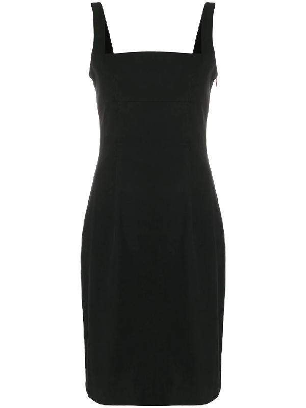 Givenchy 1990's Flared Midi Dress In Black