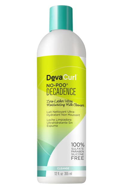 Devacurl No-poo Decadence Zero Lather Ultra Moisturizing Milk Cleanser, 12 oz