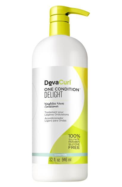 Devacurl One Condition Delight Weightless Waves Conditioner, 12 oz