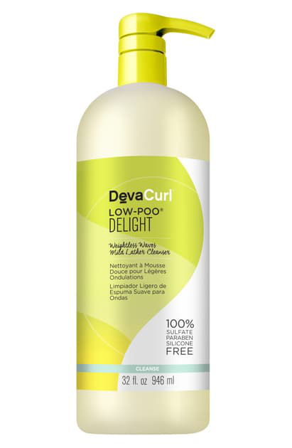 Devacurl Low-poo Delight Weightless Waves Mild Lather Cleanser, 12 oz
