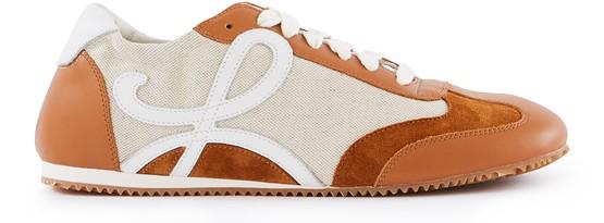 Loewe Brown Ballet Runner Contrast Panel Sneakers In Neutrals