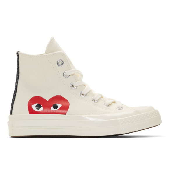 Comme Des GarÇons Play Comme Des Garcons Play Off-white Converse Edition Half Heart Chuck Taylor All-star 70 High-top Sneak