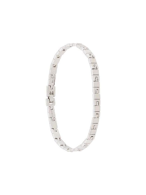 I.v.i. Slot 5 Chain Bracelet In Silver