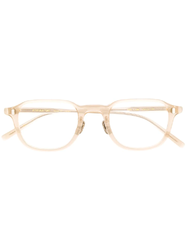 Eyevan7285 325 Square-frame Glasses In Neutrals