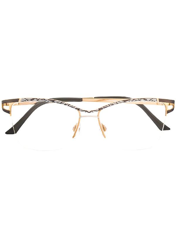 Cazal 1243 Rectangular-frame Glasses In Black