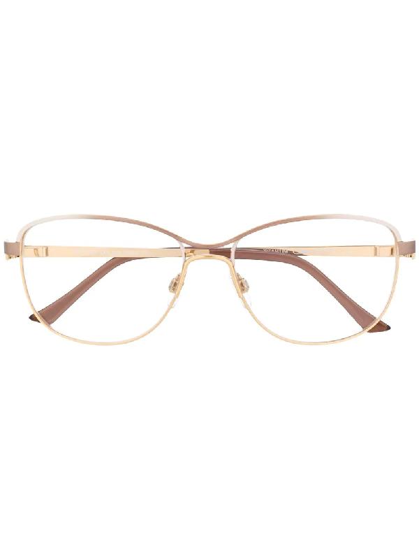 Cazal 1244 Rectangular-frame Glasses In Gold