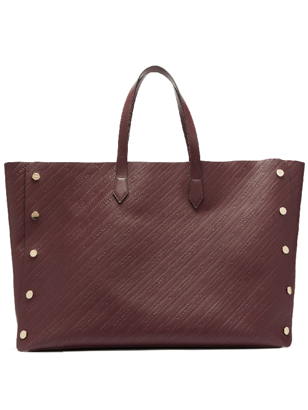 Givenchy Bond Large Logo-debossed Leather Tote Bag In Burgundy