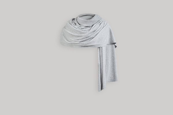 Strathberry Cashmere Travel Wrap - Pearl Grey