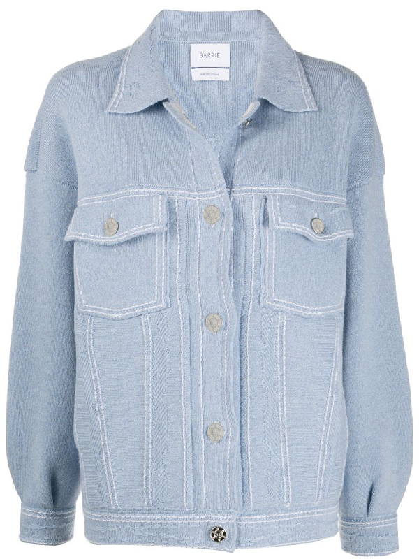 Barrie Denim-inspired Cardi-jacket In Blue