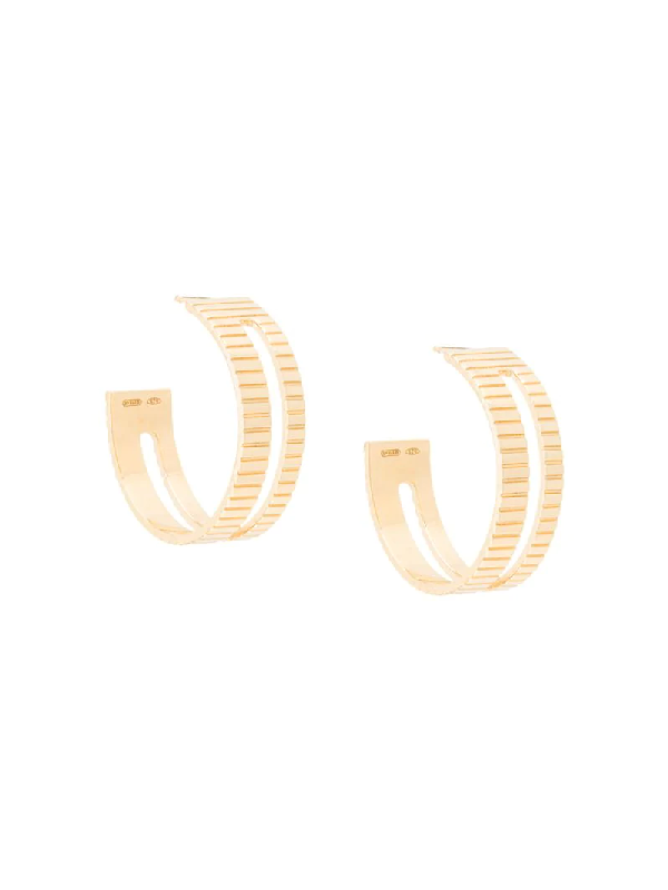 I.v.i. Slot Hoop Earrings In Gold