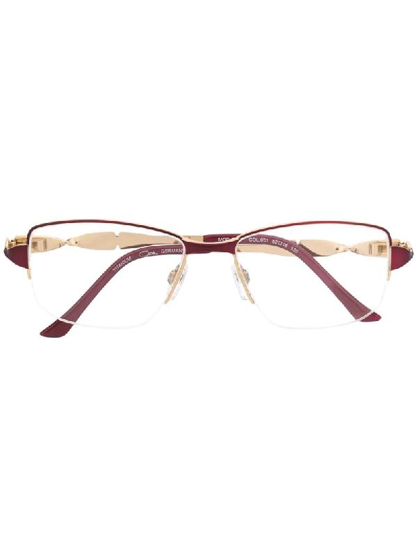 Cazal Rectangular Frame Glasses In Pink