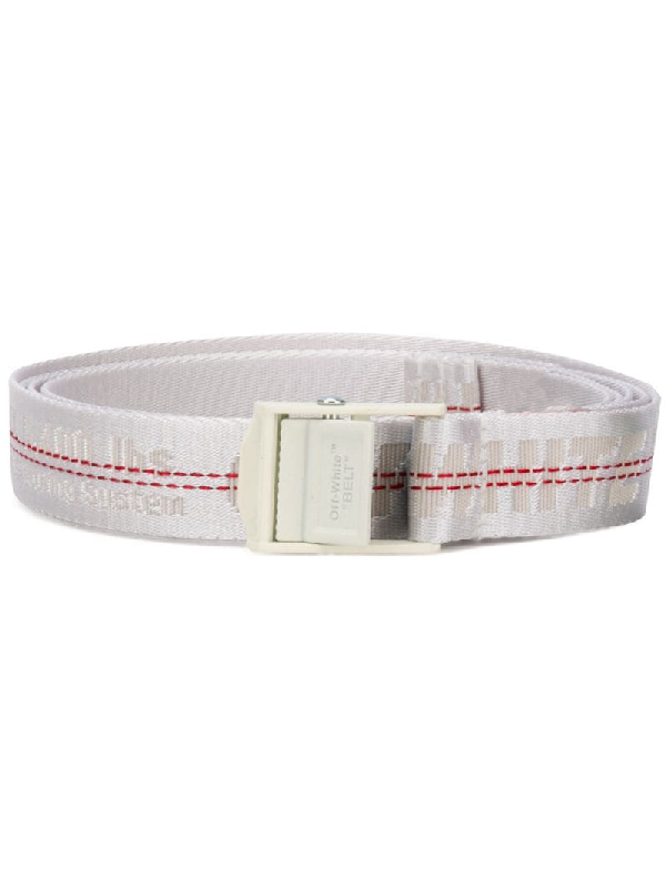 Off-white Mini Industrial Belt In White In 9191 Silver