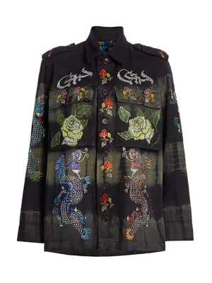 Libertine Magical Ming Embellished Jacket In Multi