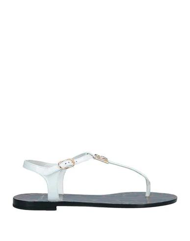 Dolce & Gabbana Flip Flops In White