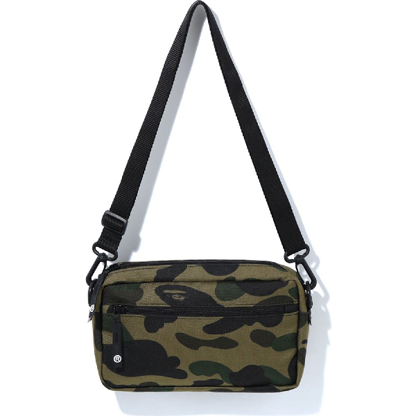 Bape 1st Camo Cordura Mini Shoulder Bag (m) Green