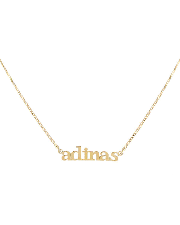 Adinas Jewels Mini Lowercase Nameplate Necklace In Gold