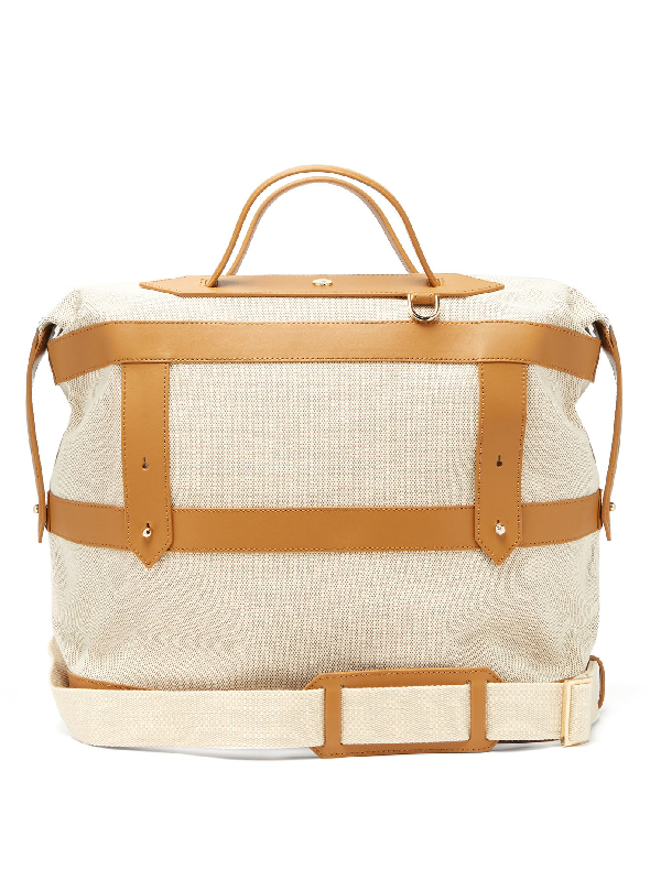 Paravel Weekender Canvas Holdall In Tan Multi