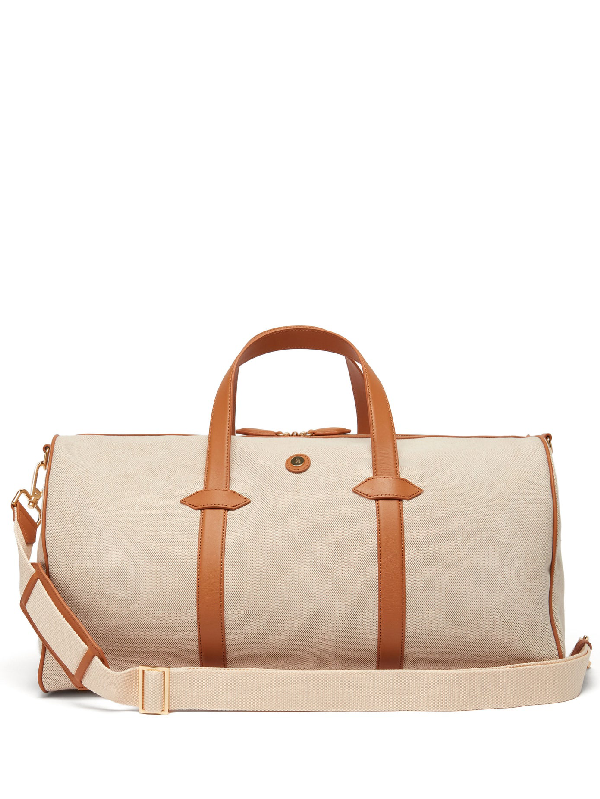 Paravel Main Line Canvas Holdall In Tan Multi