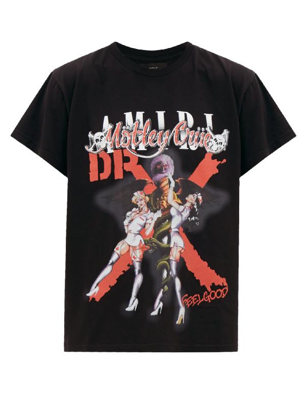 Amiri X Mötley Crüe 'dr Feel Good' Graphic Print T-shirt In Schwarz