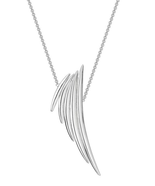 Shaun Leane Silver Quill Drop Pendant Necklace