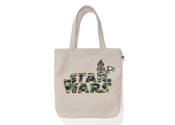 Bape X Star Wars Bb-8 & D-o Tote Bag Ivory