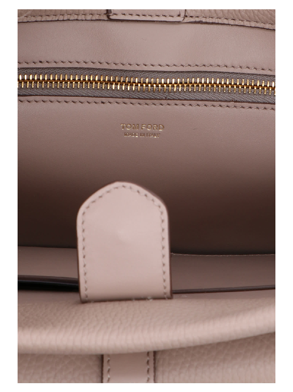 Tom Ford Day Handle Bag In Beige