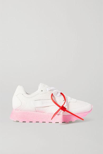Off-white Degrade Hg Runner Leather Sneakers In White