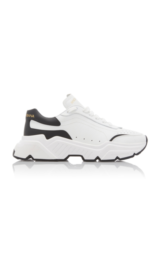 Dolce & Gabbana Daymaster Two-tone Leather Sneakers In White