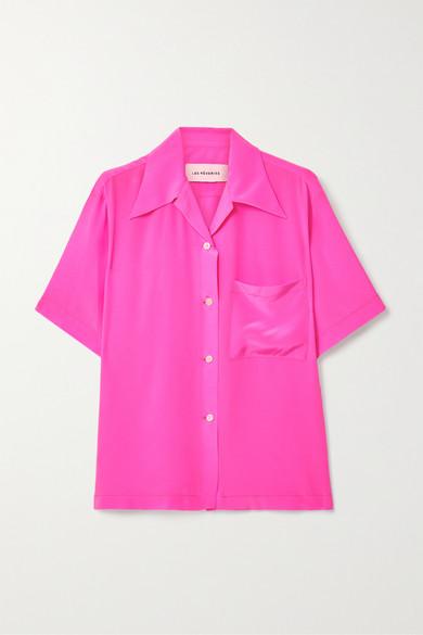 Les Rêveries Silk Crepe De Chine Shirt In Pink