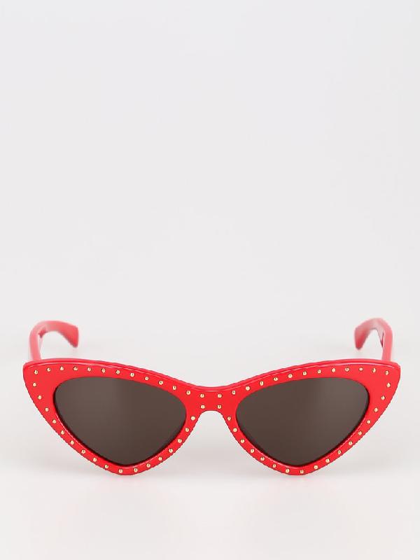 Moschino Eyewear Cat Eye Sunglasses In Red