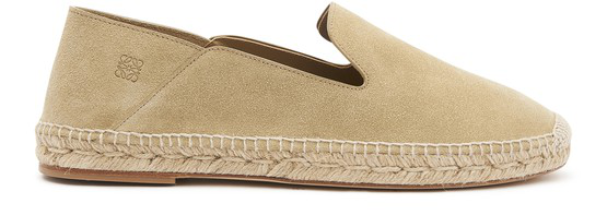 Loewe Collapsible-heel Suede Espadrilles In 8130 Gold