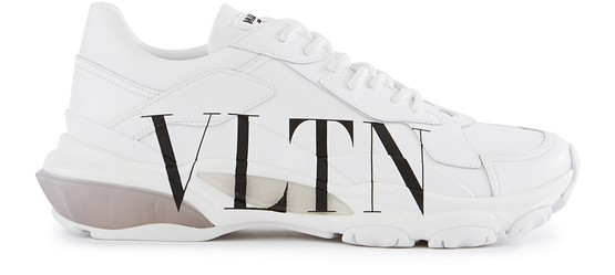 Valentino Garavani Garavani Bounce Low Top Leather Sneakers In White