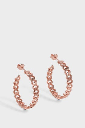 By Sophie Rose Gold Chain-inspired Hoop Earrings In R Gold