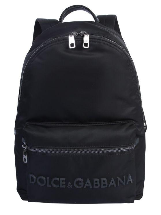 Dolce & Gabbana Volcano Backpack In Black