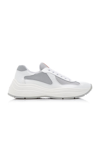 Prada America's Cup Touch-strap Sneakers In White In F0j36