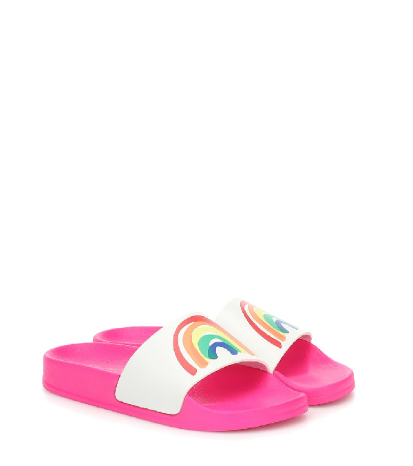 Stella Mccartney Kids' Splash Rainbow Slide Sandal In Pink