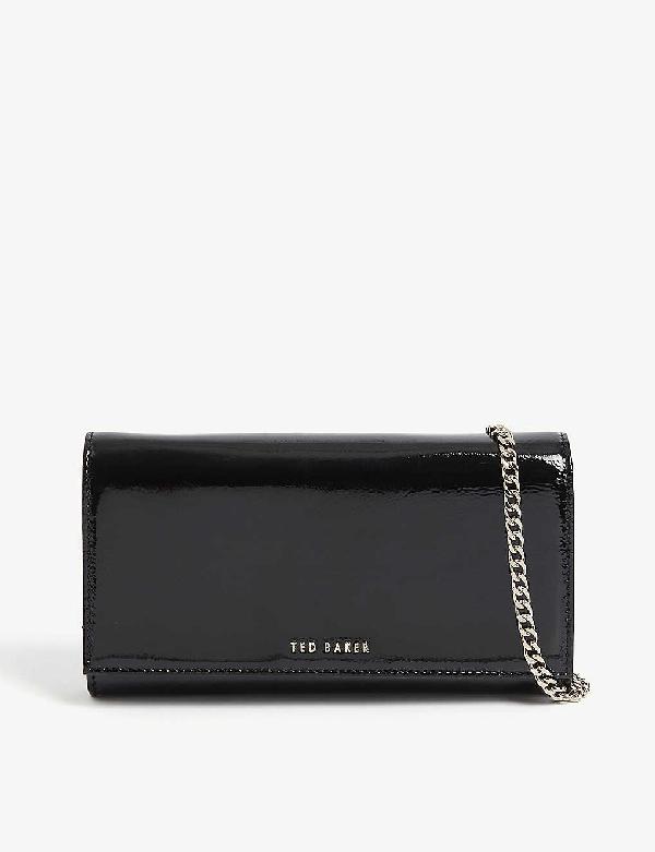 Ted Baker Enrici Crinkled Patent Leather Cross-body Bag