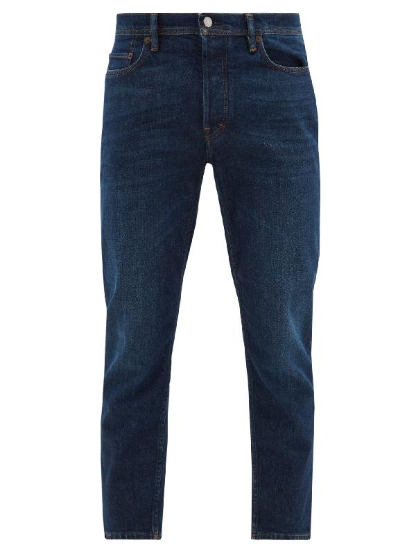 Acne Studios River Tapered-leg Jeans In Navy