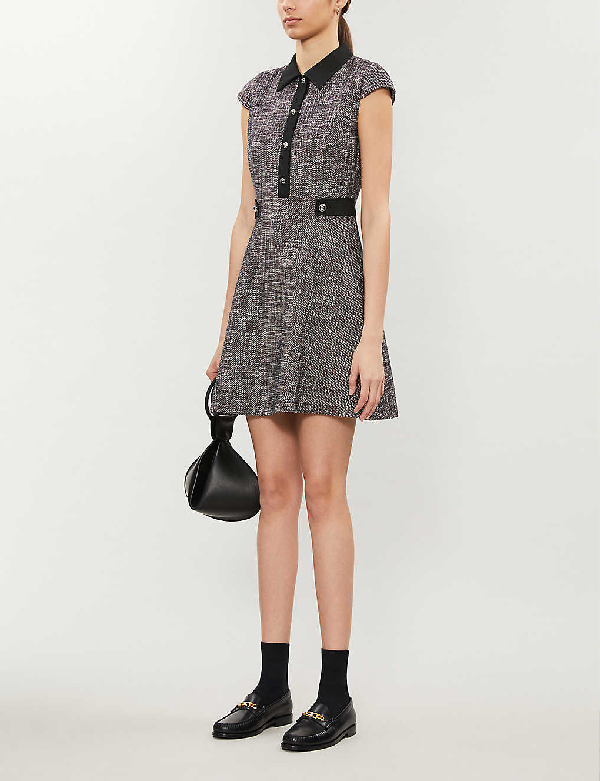 Claudie Pierlot Ready Crepe Mini Dress In Multico