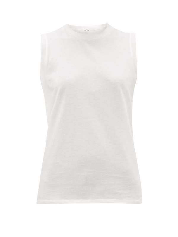 The Row Mani Cotton-jersey Tank Top In White
