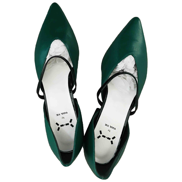 Yuul Yie Green Leather Heels